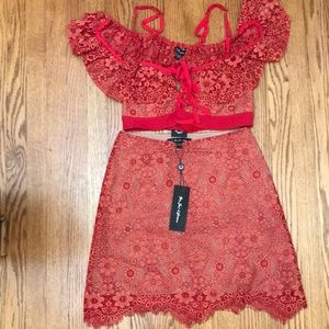 "BRAND NEW ""FOR LOVE AND LEMONS"" Lace Red Dress"